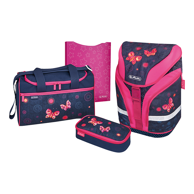 Herlitz Motion Butterfly Dreams schulrucksack Set