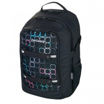 Herlitz Schulrucksack be.bag beat Black Checked