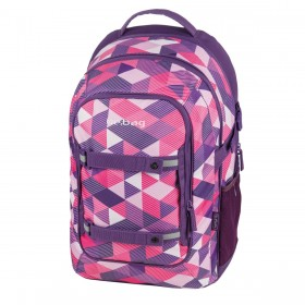 Herlitz Schulrucksack be.bag beat Purple Checked