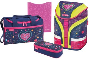 Herlitz Motion Plus Hearts schulrucksack Set